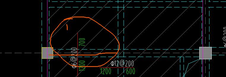 土建,山东,山东土建,问题:板请教这个板负筋布置位置是画线部位,还是两个柱子中间