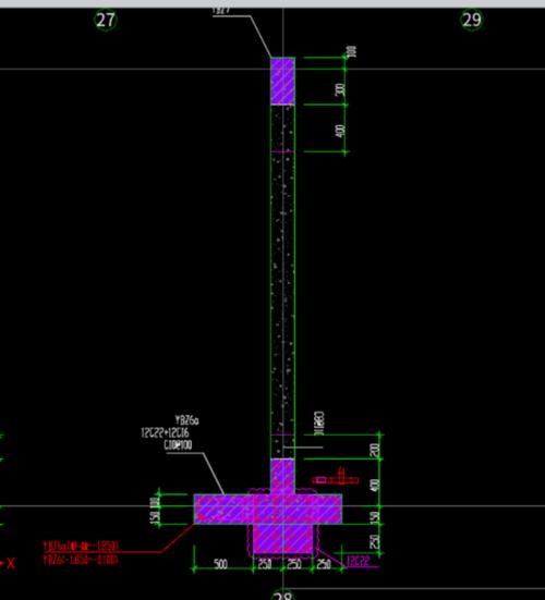 土建,土建算量GTJ2018,招投标,河南,答疑:请教各位大家这个图纸中剪力墙深入异性暗柱,这样绘制合适吗?-河南土建,招投标,土建算量GTJ2018,