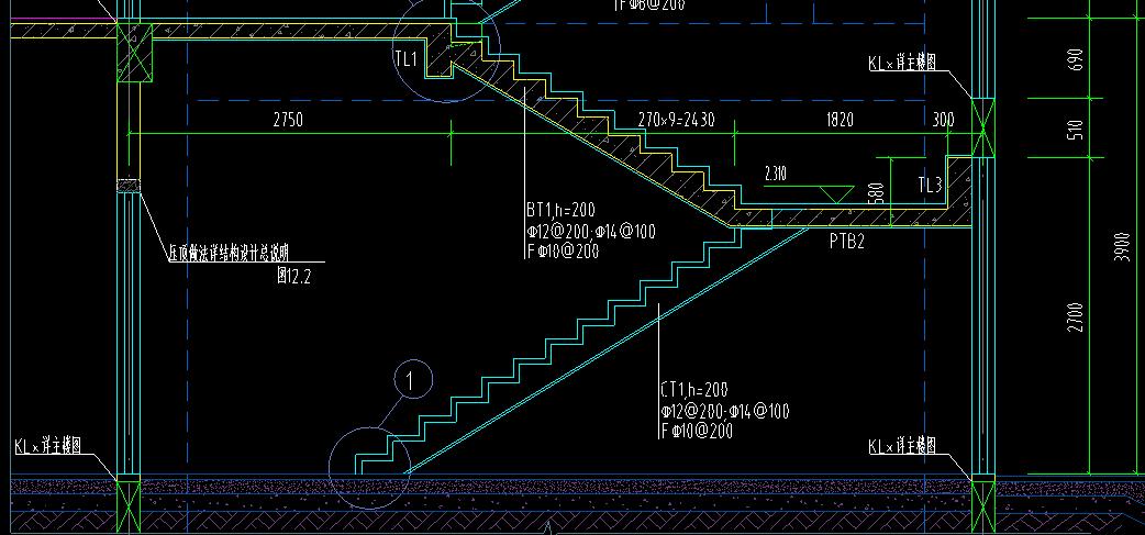 土建,山东,答疑:这个楼梯的高端平板净长是多少啊-山东土建,