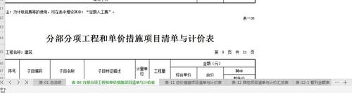 土建,广西壮族自治区,答疑:excel这个工作簿里有十几个表,如果我只想提取其中的08分部分项工程量表-广西壮族自治区土建,
