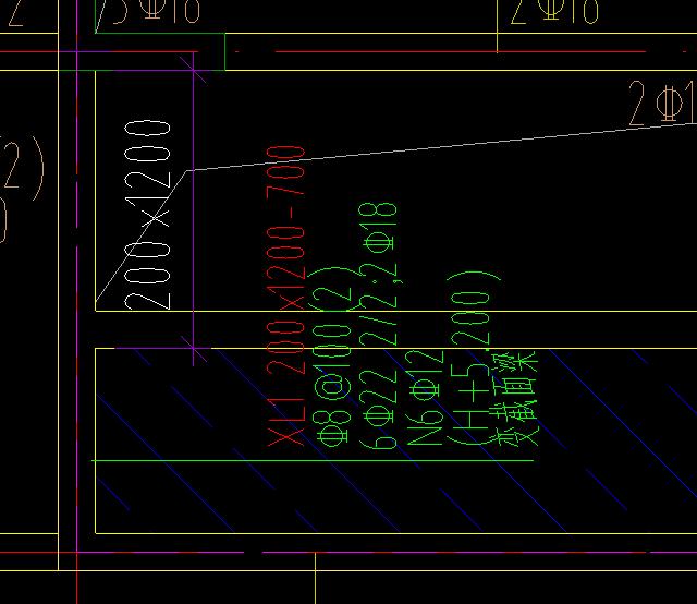 土建,土建算量GTJ2018,福建,预算,答疑:请教XL截面尺寸标注200*1200-700该怎么理解-福建土建,预算,土建算量GTJ2018,